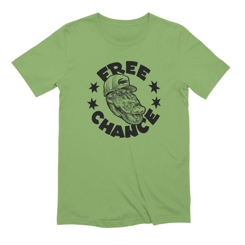 Free Chance (Black Print) Men's Extra Soft T-Shirt by Octophant's Artist Shop