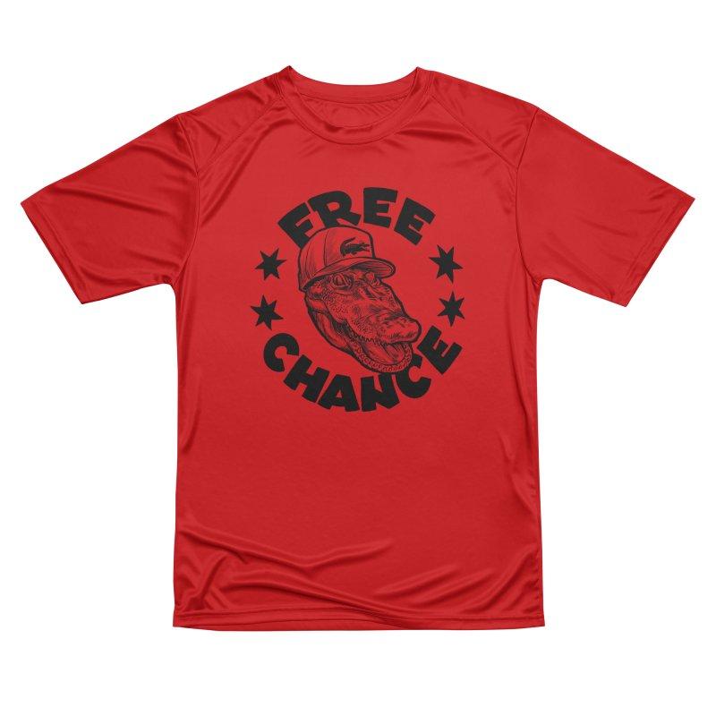 Free Chance (Black Print) Men's Performance T-Shirt by Octophant's Artist Shop
