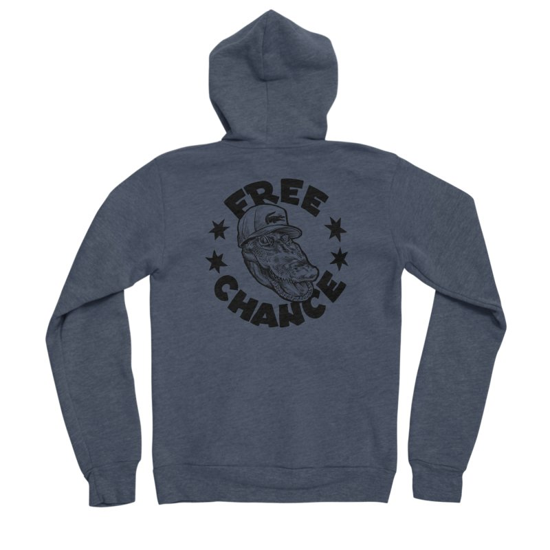 Free Chance (Black Print) Men's Sponge Fleece Zip-Up Hoody by Octophant's Artist Shop