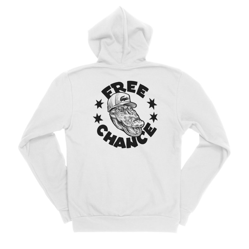 Free Chance (Black Print) Women's Sponge Fleece Zip-Up Hoody by Octophant's Artist Shop