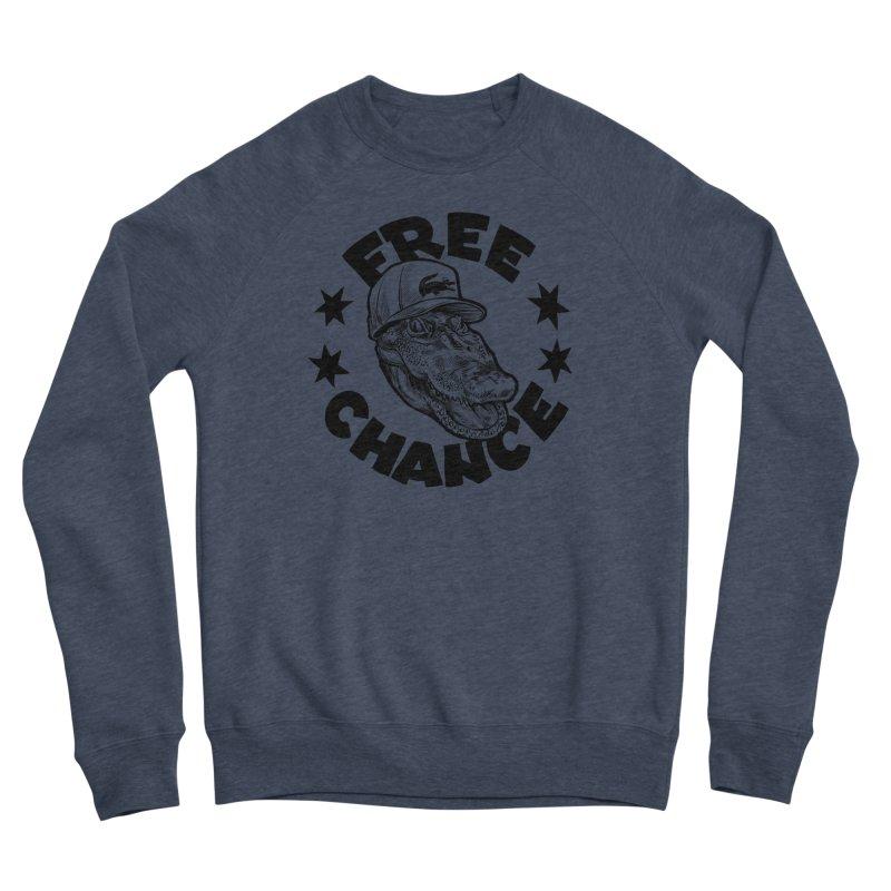 Free Chance (Black Print) Men's Sponge Fleece Sweatshirt by Octophant's Artist Shop