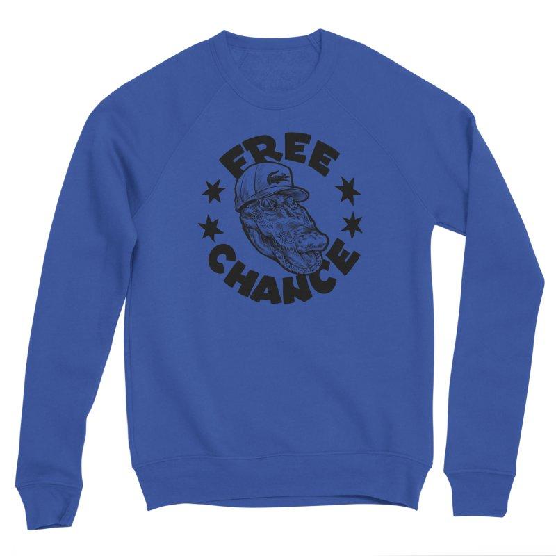 Free Chance (Black Print) Women's Sponge Fleece Sweatshirt by Octophant's Artist Shop