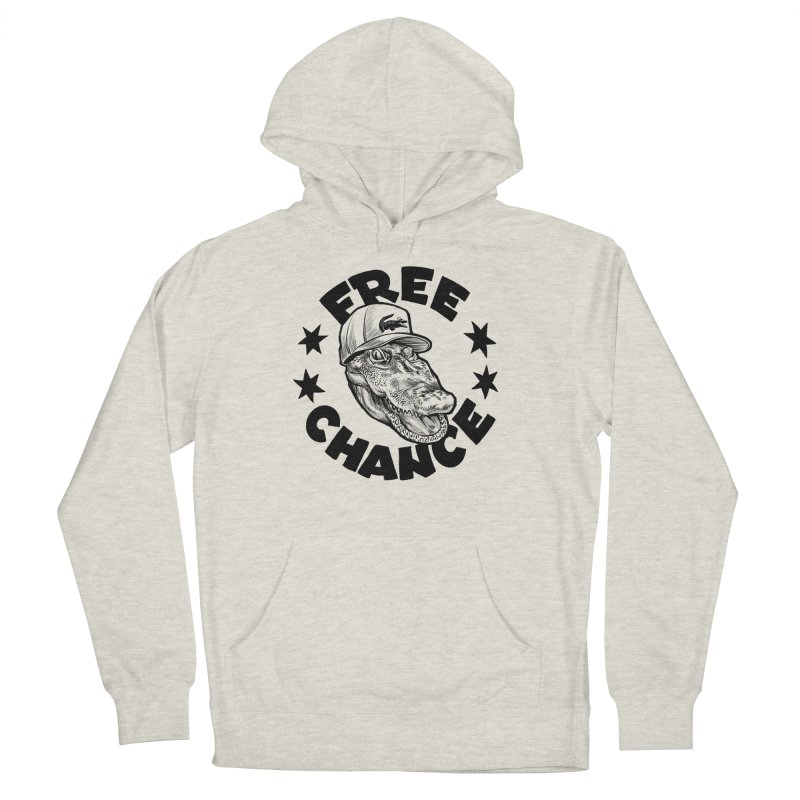 Free Chance (Black Print) Women's French Terry Pullover Hoody by Octophant's Artist Shop