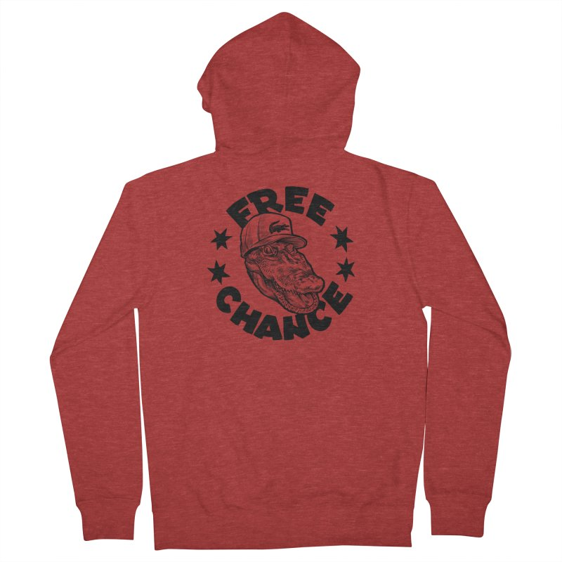 Free Chance (Black Print) Women's French Terry Zip-Up Hoody by Octophant's Artist Shop