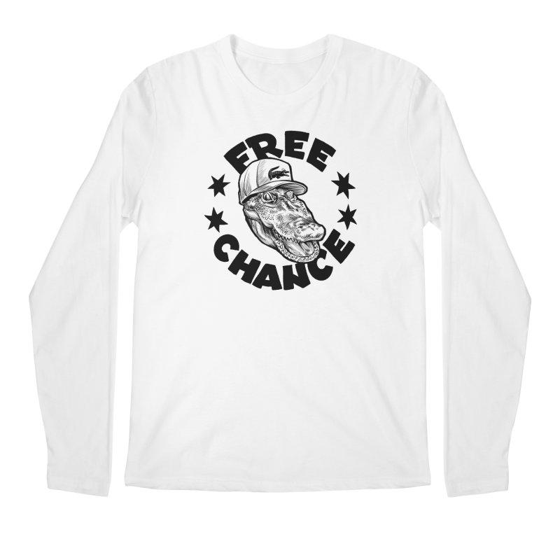 Free Chance (Black Print) Men's Regular Longsleeve T-Shirt by Octophant's Artist Shop