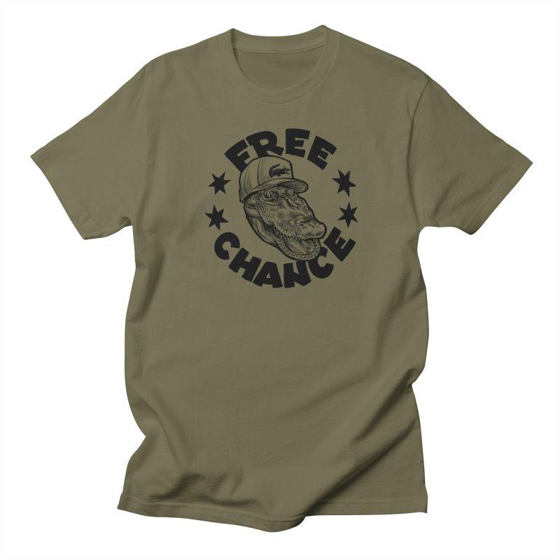 Free Chance (Black Print) Men's Regular T-Shirt by Octophant's Artist Shop
