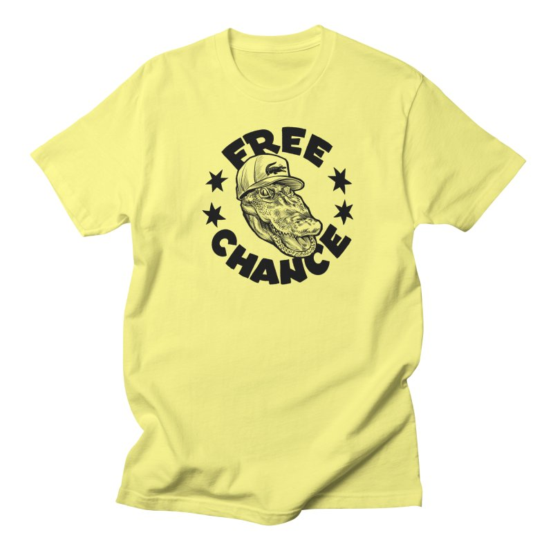 Free Chance (Black Print) Men's Regular T-Shirt by Octophant's Artist Shop