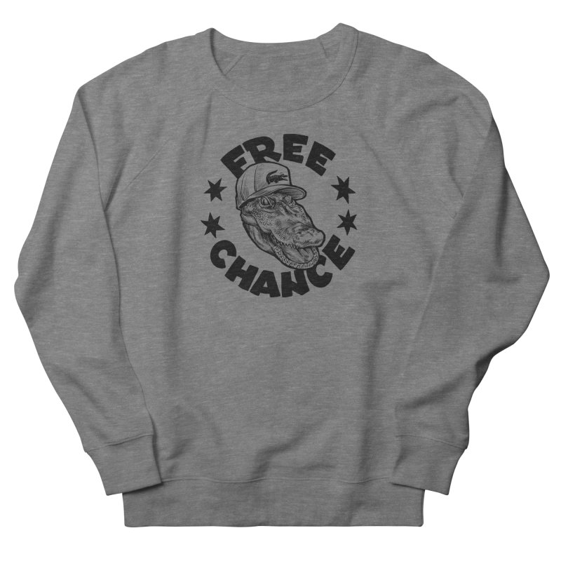 Free Chance (Black Print) Women's French Terry Sweatshirt by Octophant's Artist Shop