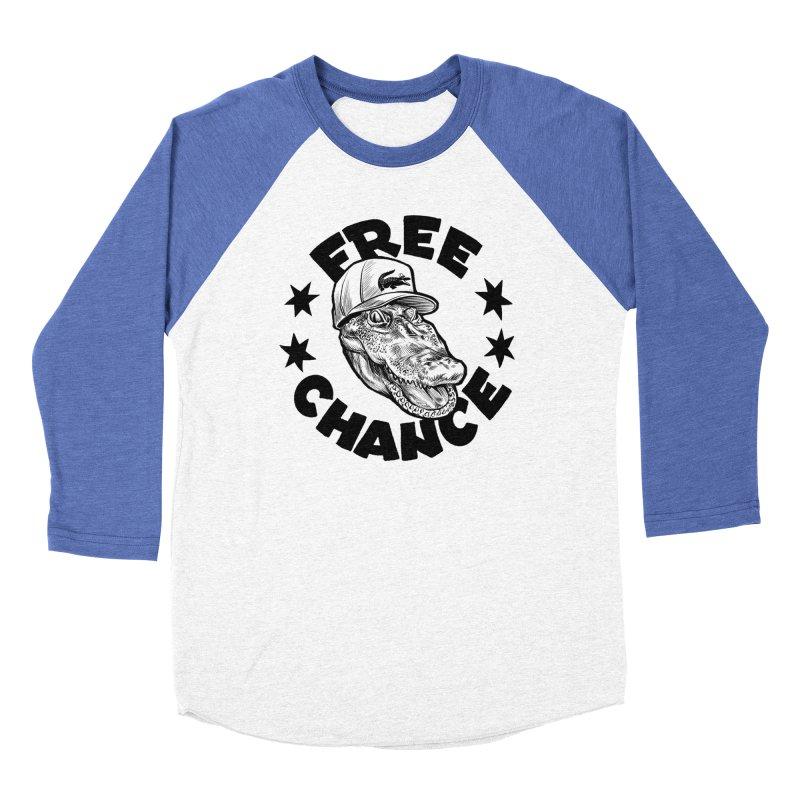 Free Chance (Black Print) Men's Baseball Triblend Longsleeve T-Shirt by Octophant's Artist Shop