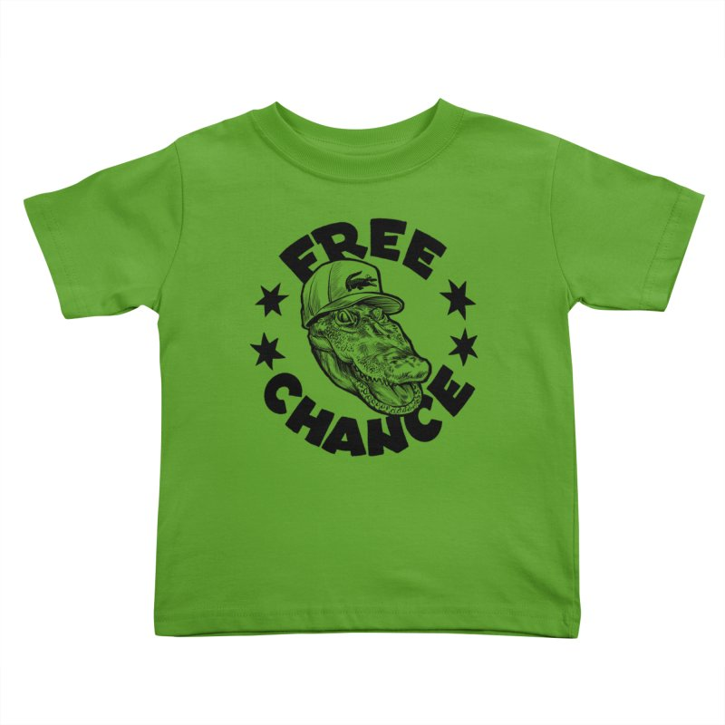 Free Chance (Black Print) Kids Toddler T-Shirt by Octophant's Artist Shop