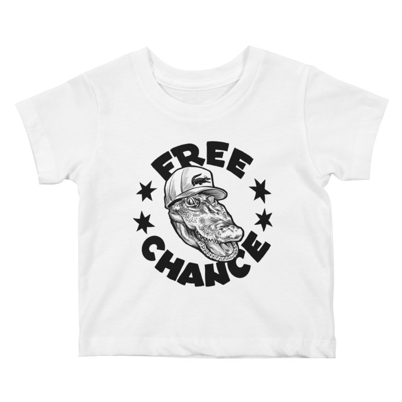 Free Chance (Black Print) Kids Baby T-Shirt by Octophant's Artist Shop
