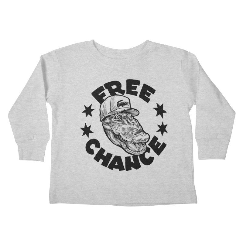 Free Chance (Black Print) Kids Toddler Longsleeve T-Shirt by Octophant's Artist Shop