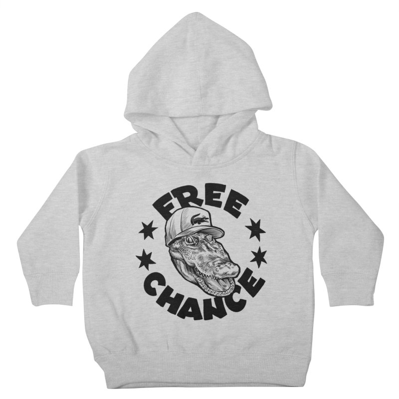 Free Chance (Black Print) Kids Toddler Pullover Hoody by Octophant's Artist Shop