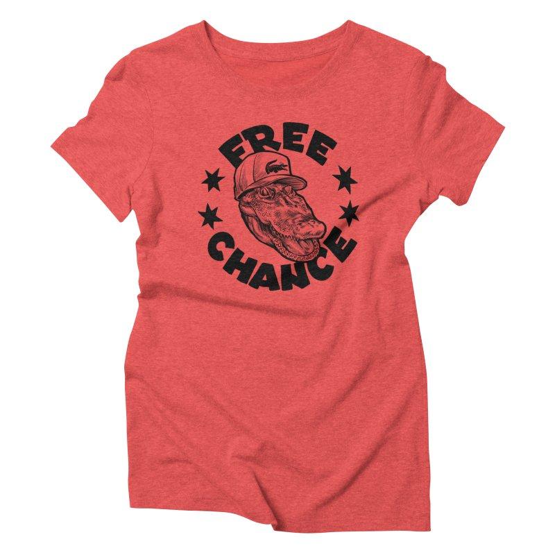 Free Chance (Black Print) Women's Triblend T-Shirt by Octophant's Artist Shop