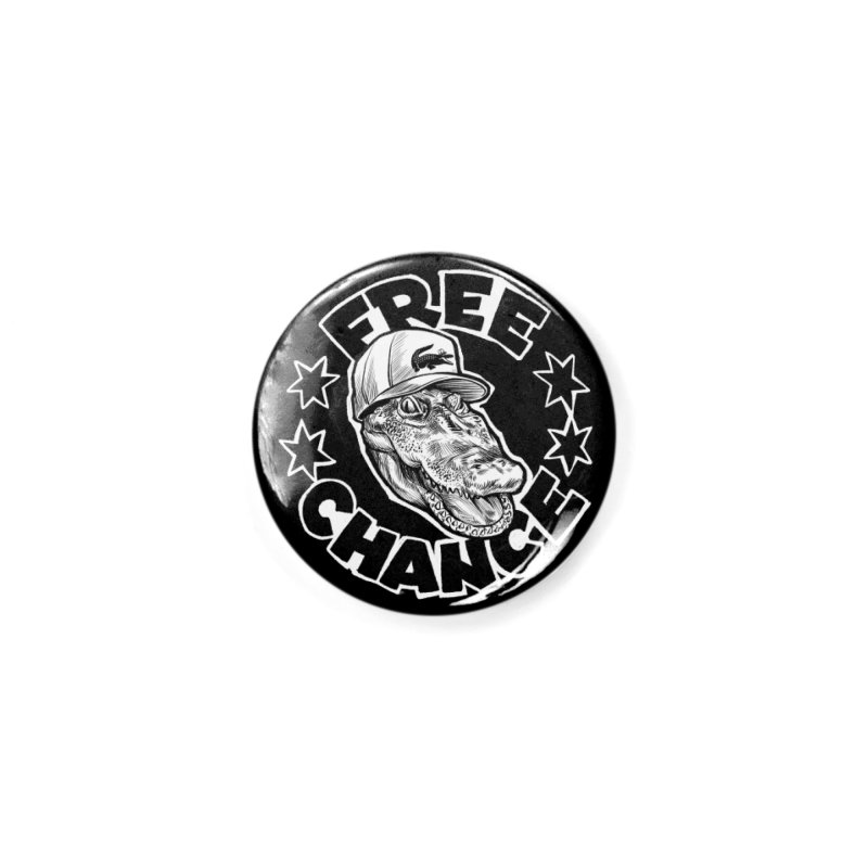 Free Chance (White Print) Accessories Button by Octophant's Artist Shop