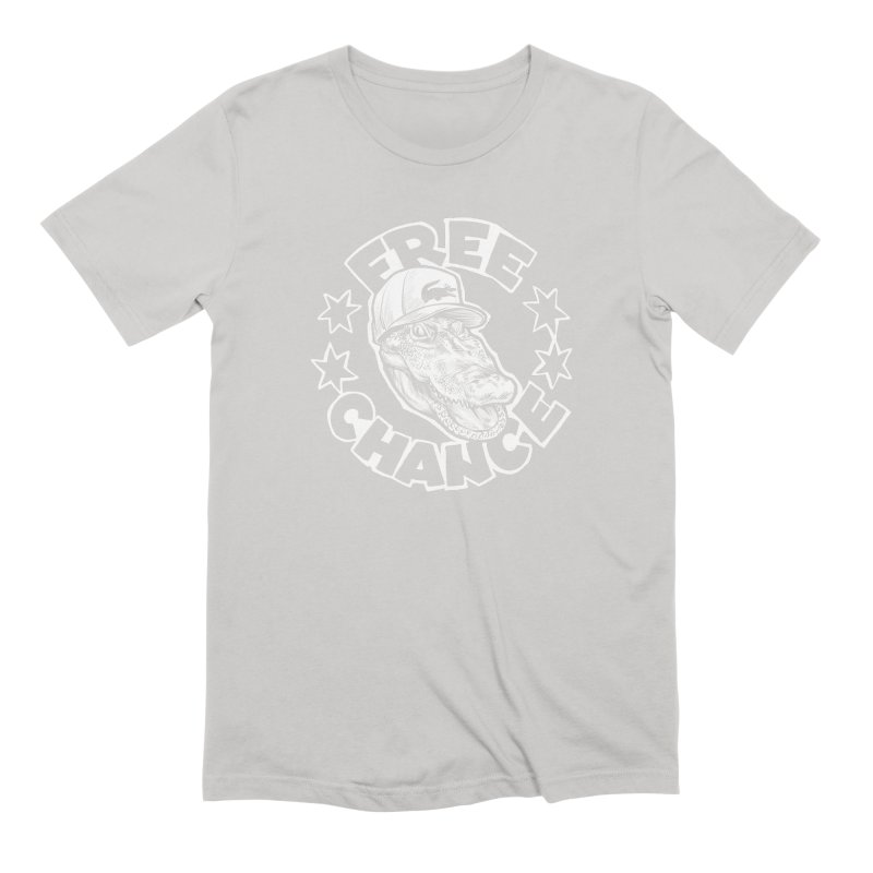 Free Chance (White Print) Men's Extra Soft T-Shirt by Octophant's Artist Shop