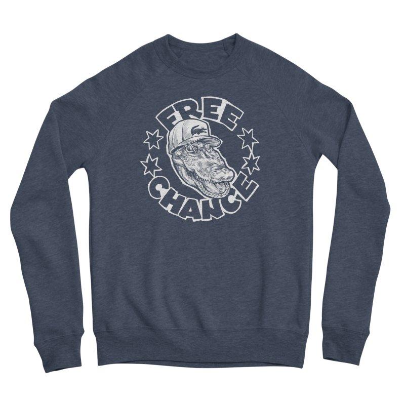 Free Chance (White Print) Women's Sponge Fleece Sweatshirt by Octophant's Artist Shop