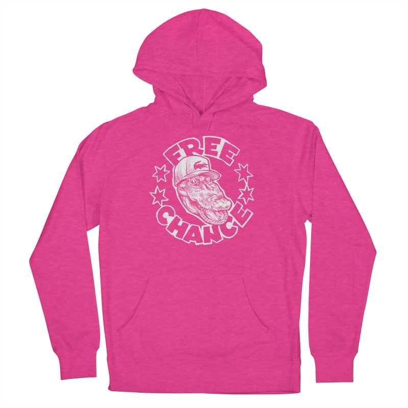 Free Chance (White Print) Women's French Terry Pullover Hoody by Octophant's Artist Shop