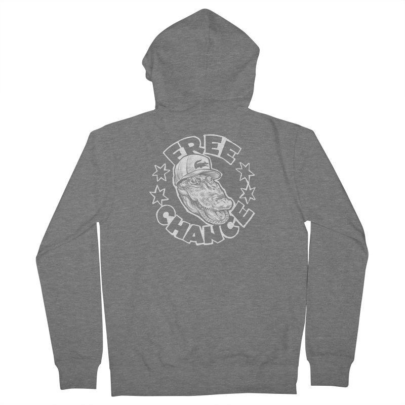 Free Chance (White Print) Women's French Terry Zip-Up Hoody by Octophant's Artist Shop