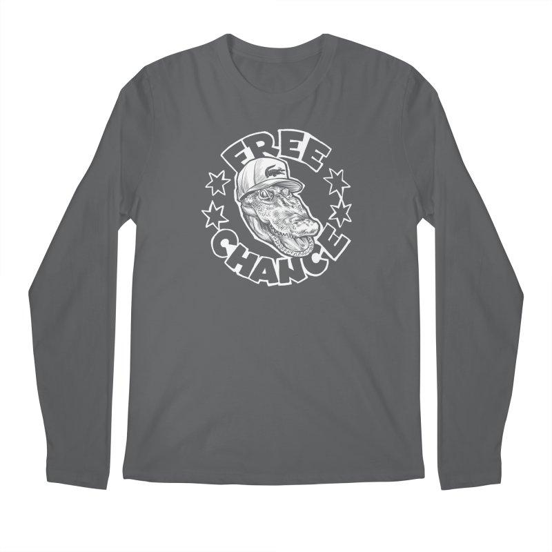 Free Chance (White Print) Men's Regular Longsleeve T-Shirt by Octophant's Artist Shop