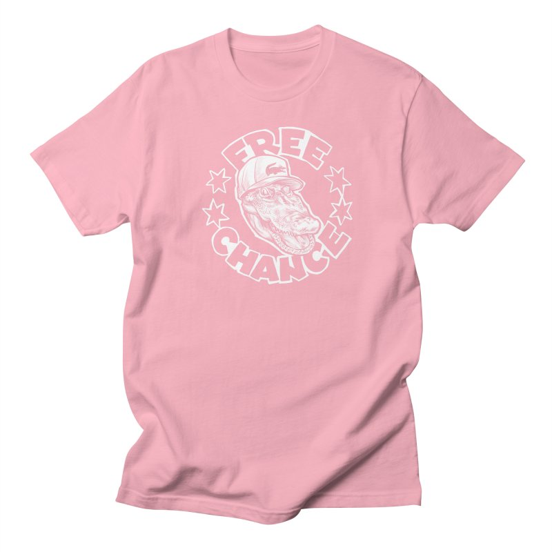 Free Chance (White Print) Men's Regular T-Shirt by Octophant's Artist Shop