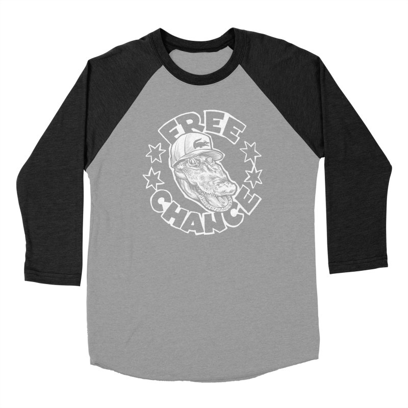 Free Chance (White Print) Men's Baseball Triblend Longsleeve T-Shirt by Octophant's Artist Shop