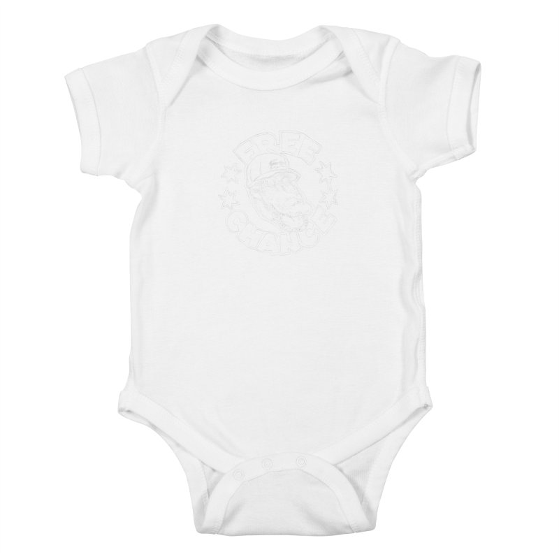 Free Chance (White Print) Kids Baby Bodysuit by Octophant's Artist Shop