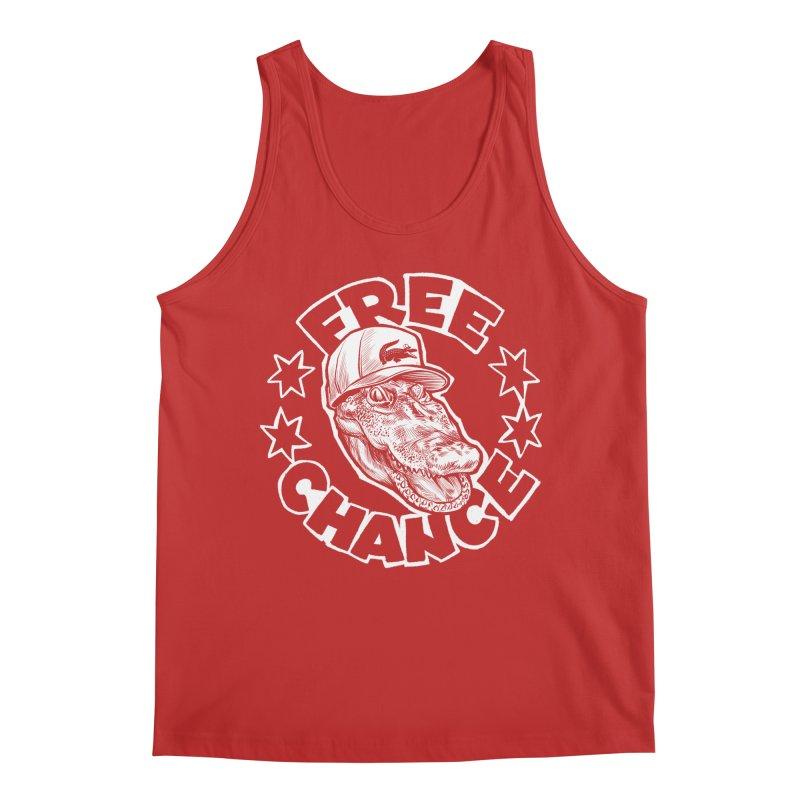 Free Chance (White Print) Men's Regular Tank by Octophant's Artist Shop