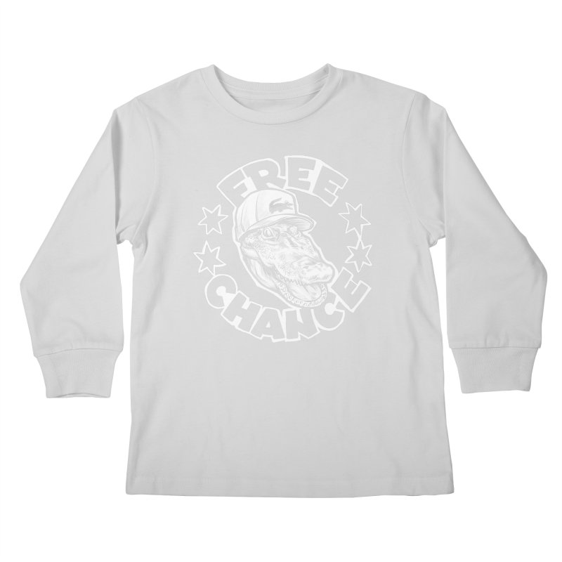 Free Chance (White Print) Kids Longsleeve T-Shirt by Octophant's Artist Shop