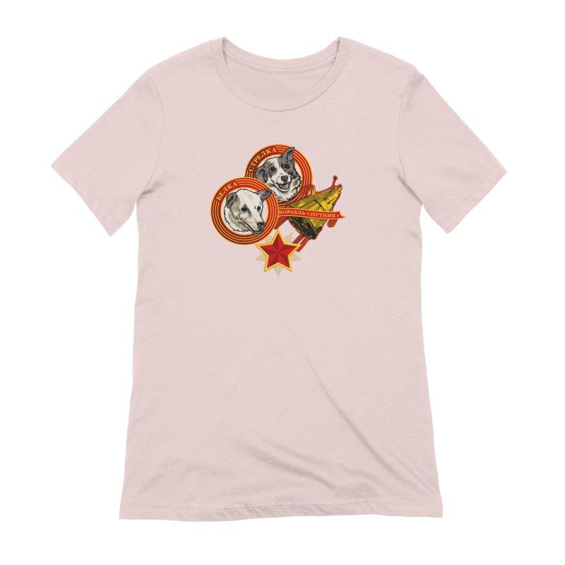 Belka & Strelka Women's Extra Soft T-Shirt by Octophant's Artist Shop