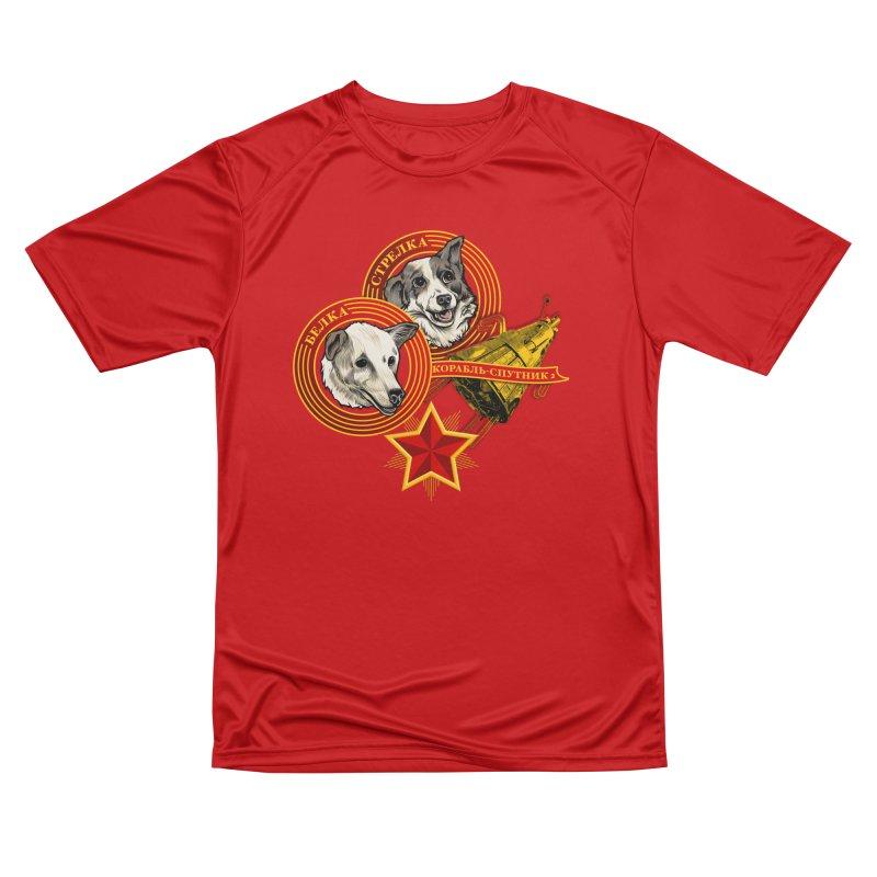 Belka & Strelka Men's Performance T-Shirt by Octophant's Artist Shop