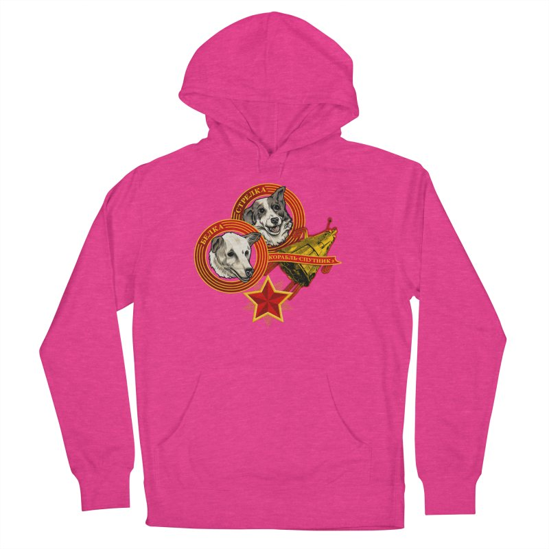 Belka & Strelka Women's French Terry Pullover Hoody by Octophant's Artist Shop