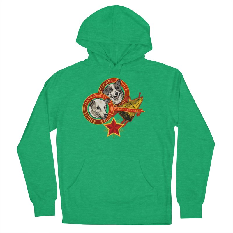 Belka & Strelka Men's French Terry Pullover Hoody by Octophant's Artist Shop