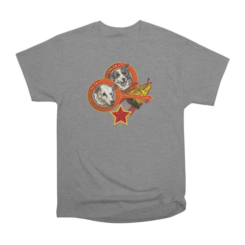 Belka & Strelka Men's Heavyweight T-Shirt by Octophant's Artist Shop