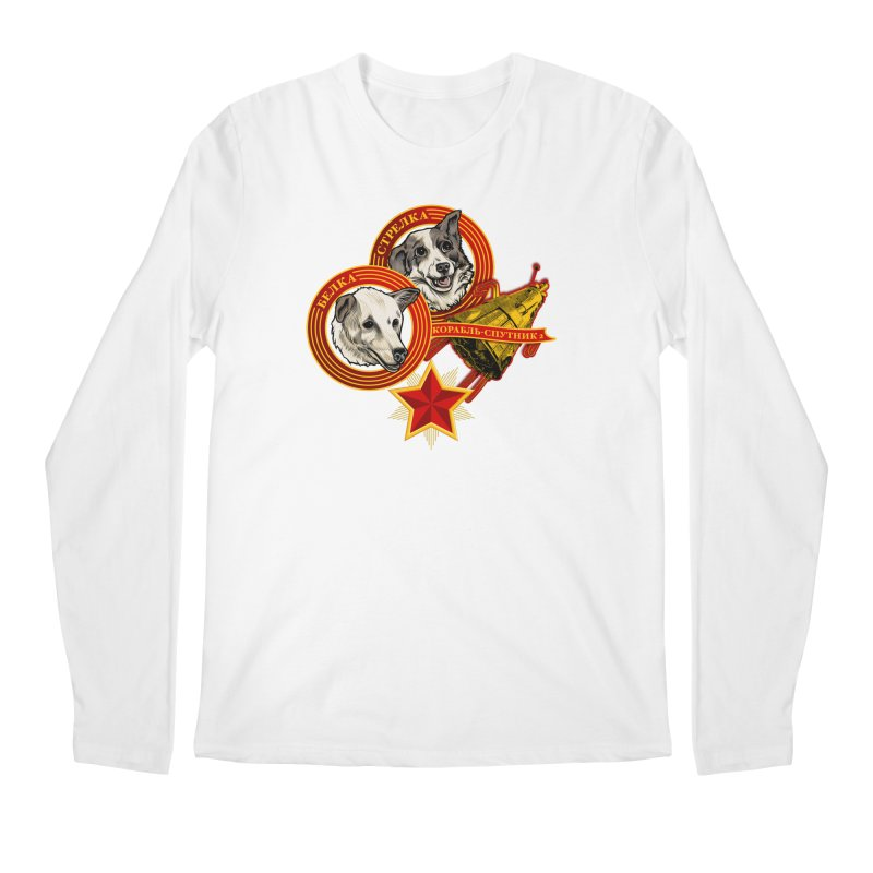 Belka & Strelka Men's Regular Longsleeve T-Shirt by Octophant's Artist Shop