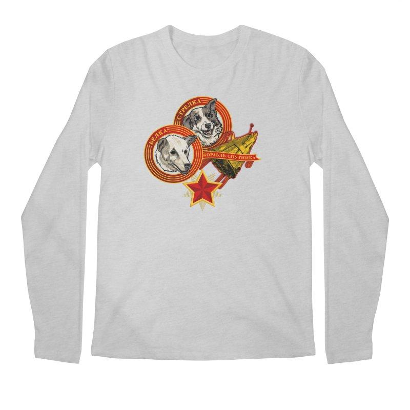 Belka & Strelka Men's Regular Longsleeve T-Shirt by Octophant's Artist Shop