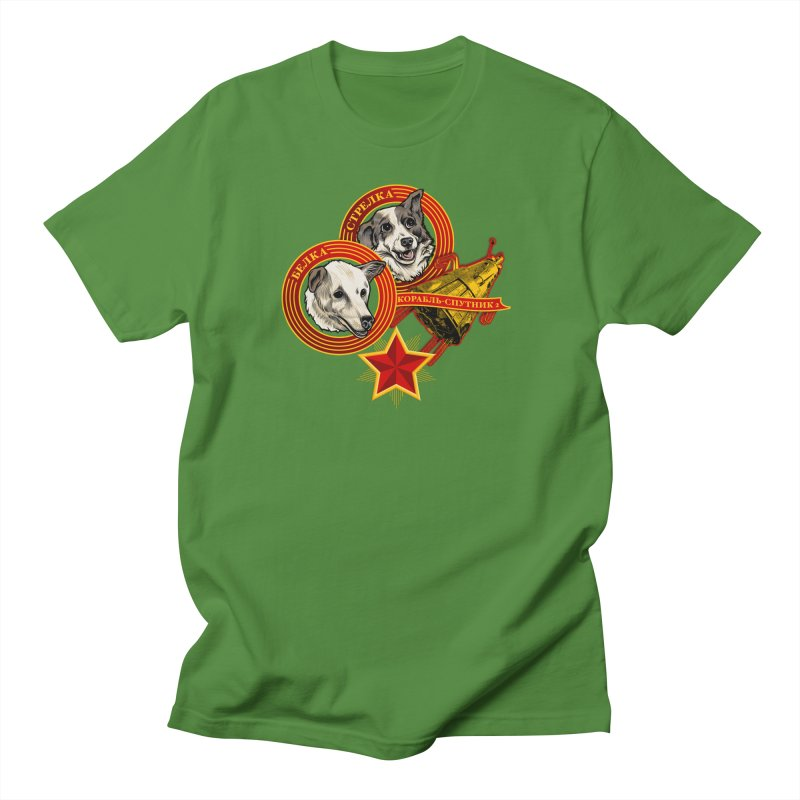 Belka & Strelka Men's Regular T-Shirt by Octophant's Artist Shop