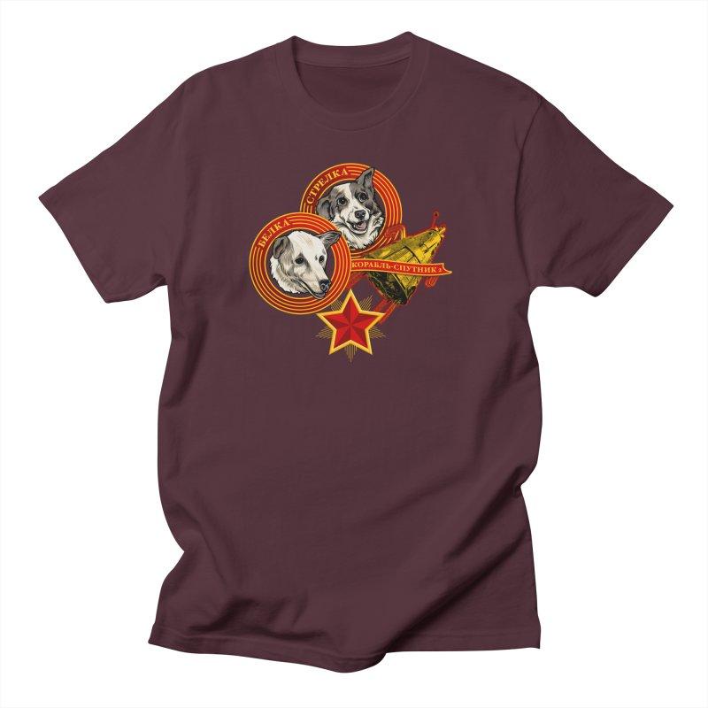Belka & Strelka Men's Regular T-Shirt by Octophant's Artist Shop