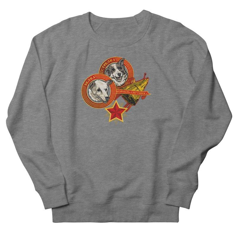 Belka & Strelka Men's French Terry Sweatshirt by Octophant's Artist Shop