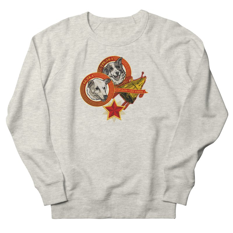 Belka & Strelka Men's French Terry Sweatshirt by Octophant's Artist Shop