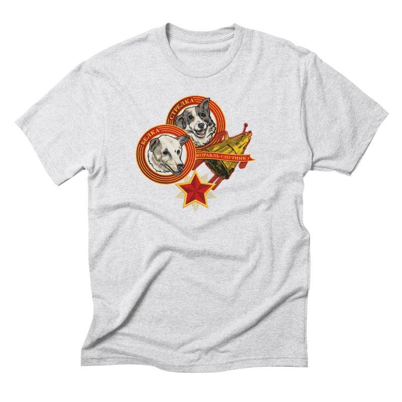 Belka & Strelka Men's Triblend T-Shirt by Octophant's Artist Shop