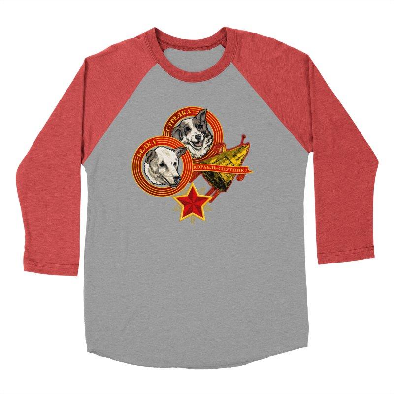 Belka & Strelka Women's Baseball Triblend Longsleeve T-Shirt by Octophant's Artist Shop