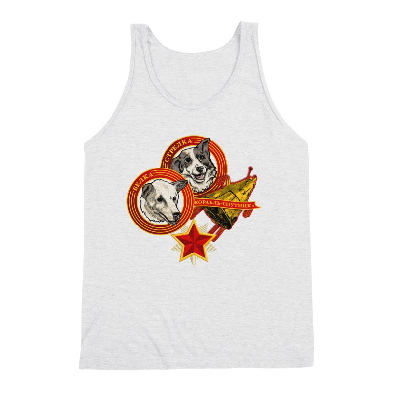 Belka & Strelka Men's Triblend Tank by Octophant's Artist Shop