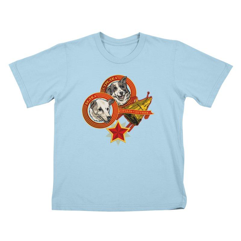 Belka & Strelka Kids T-Shirt by Octophant's Artist Shop