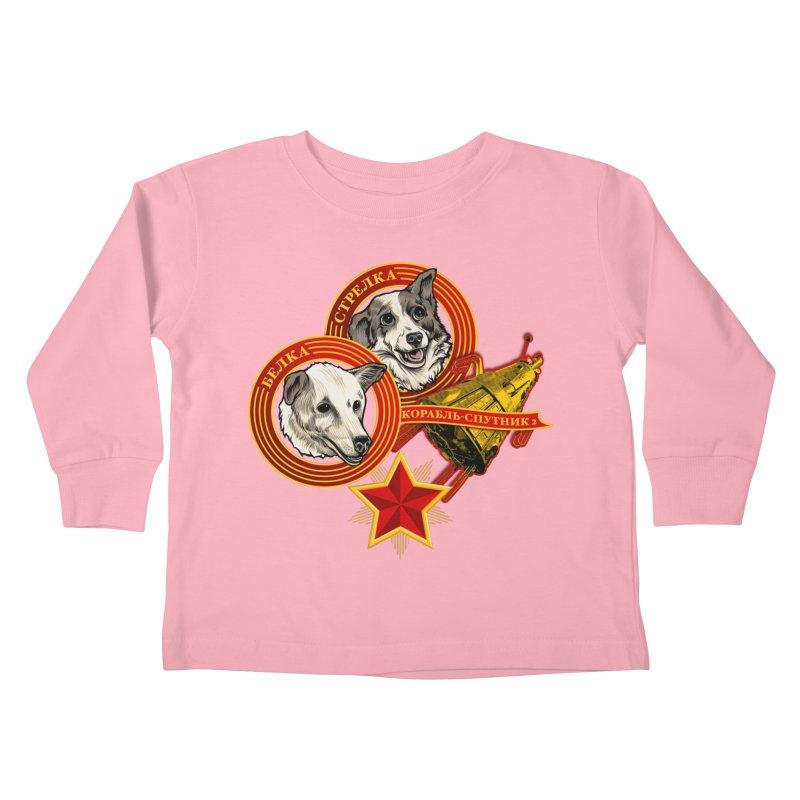 Belka & Strelka Kids Toddler Longsleeve T-Shirt by Octophant's Artist Shop