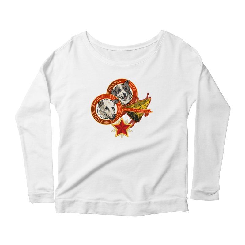 Belka & Strelka Women's Scoop Neck Longsleeve T-Shirt by Octophant's Artist Shop