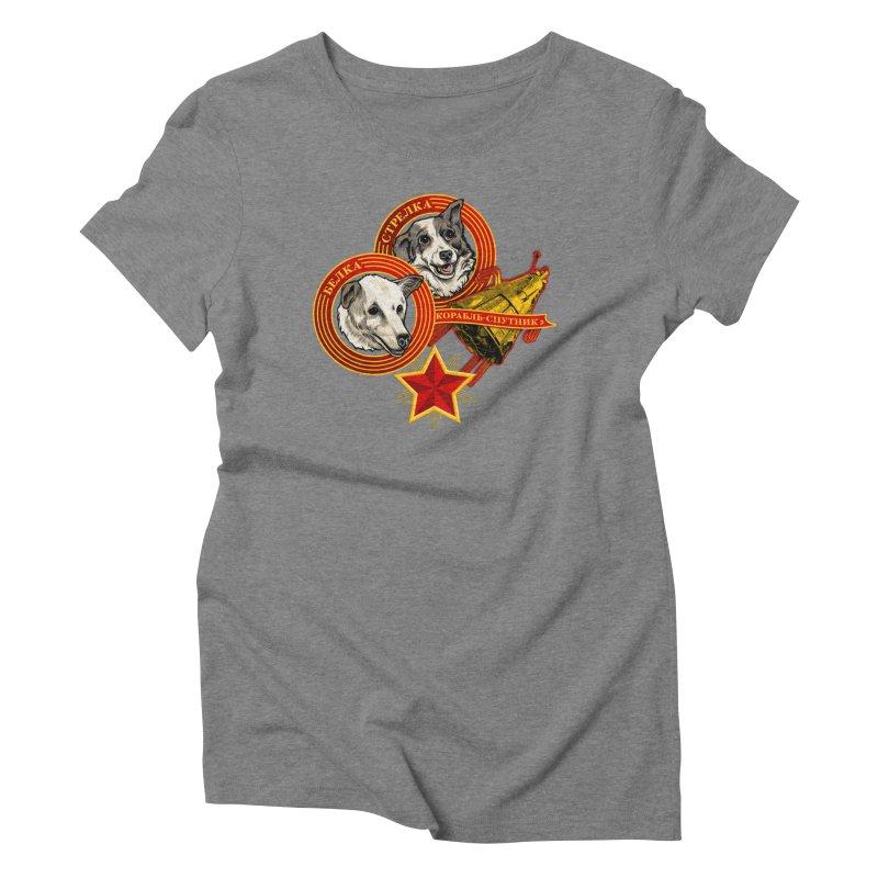 Belka & Strelka Women's Triblend T-Shirt by Octophant's Artist Shop