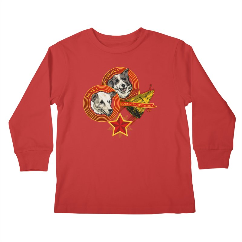 Belka & Strelka Kids Longsleeve T-Shirt by Octophant's Artist Shop
