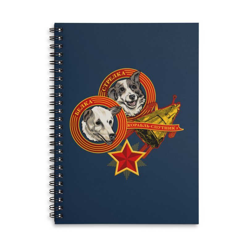 Belka & Strelka Accessories Lined Spiral Notebook by Octophant's Artist Shop