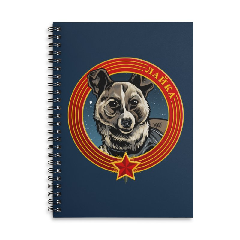 Laika (2019) Accessories Lined Spiral Notebook by Octophant's Artist Shop
